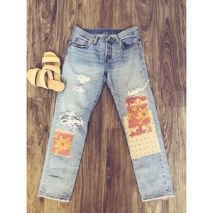 Cute customized Levi 501 jeans❤️